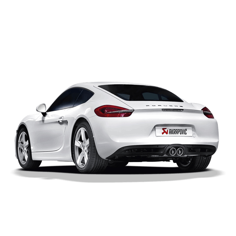 porsche cayman s gts 981 akrapovic slip on exhaust clp. Black Bedroom Furniture Sets. Home Design Ideas