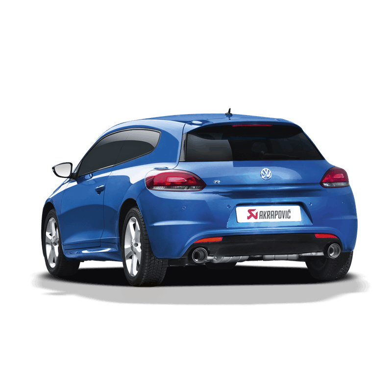 akrapovic slip on exhaust volkswagen scirocco r clp tuning. Black Bedroom Furniture Sets. Home Design Ideas