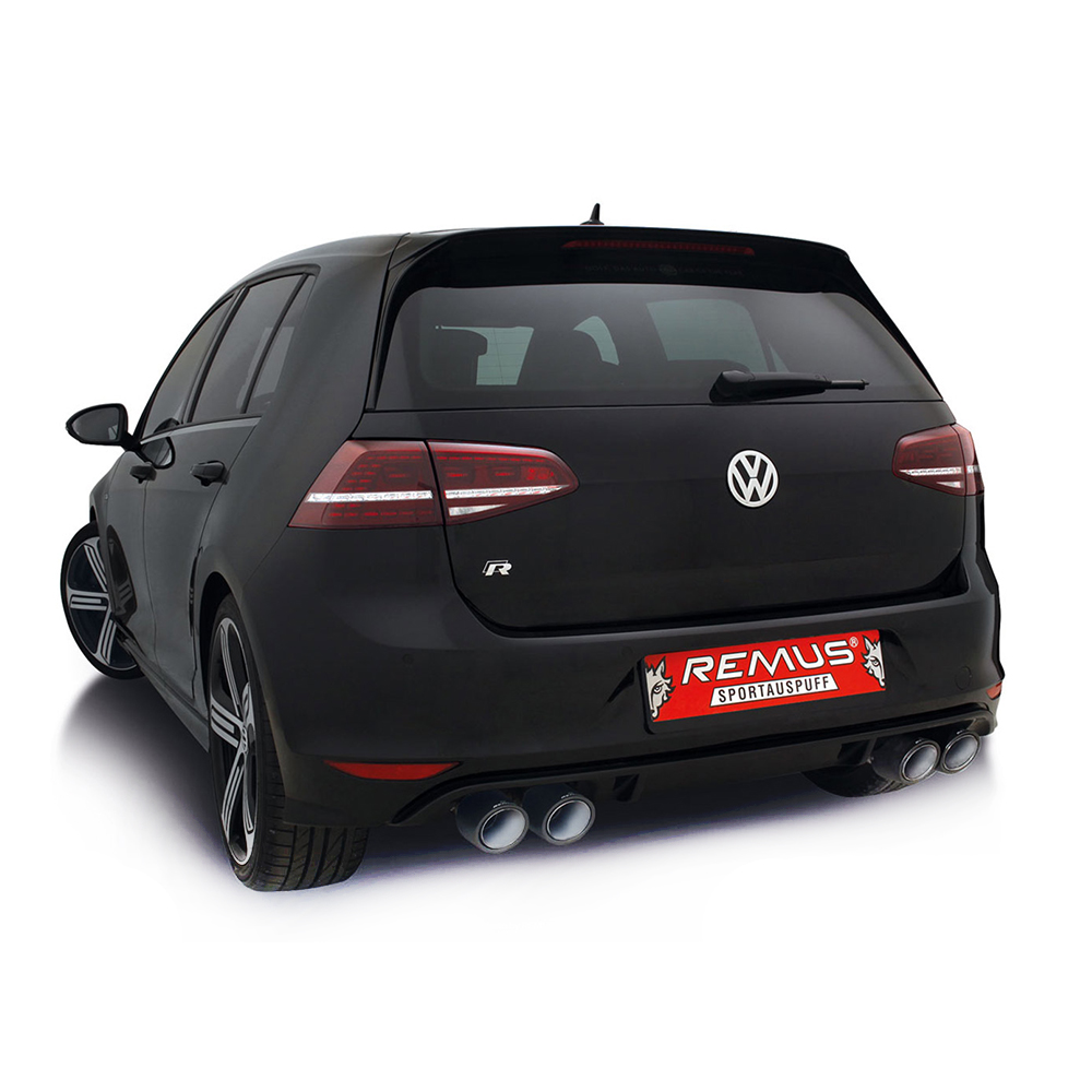 remus cat back exhaust volkswagen golf mk7 r clp tuning. Black Bedroom Furniture Sets. Home Design Ideas