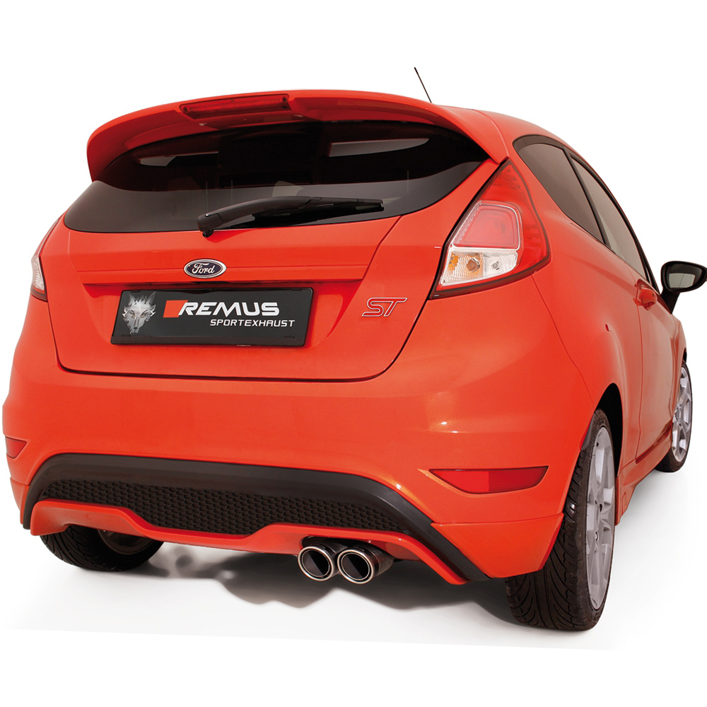 remus cat back exhaust ford fiesta st 1 6t clp tuning. Black Bedroom Furniture Sets. Home Design Ideas