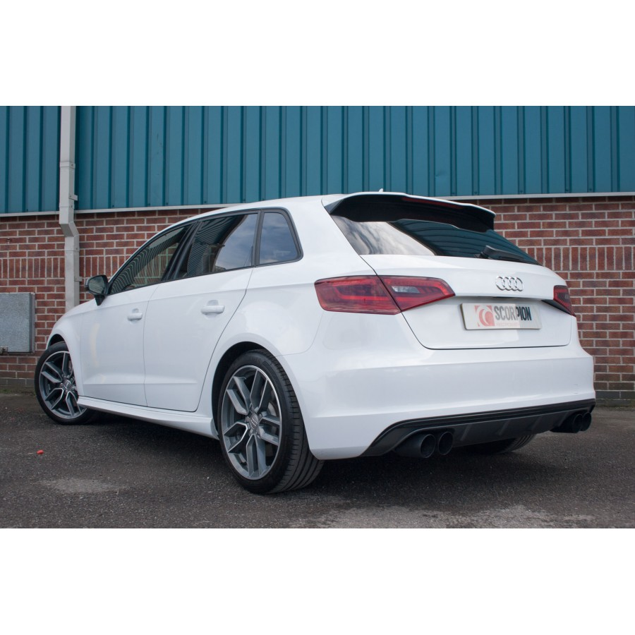scorpion cat back exhaust audi s3 8v clp tuning. Black Bedroom Furniture Sets. Home Design Ideas