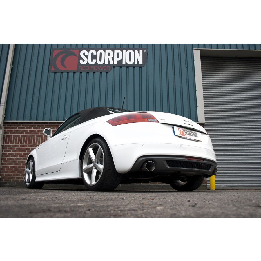 scorpion cat back exhaust audi tt mk2 clp tuning. Black Bedroom Furniture Sets. Home Design Ideas