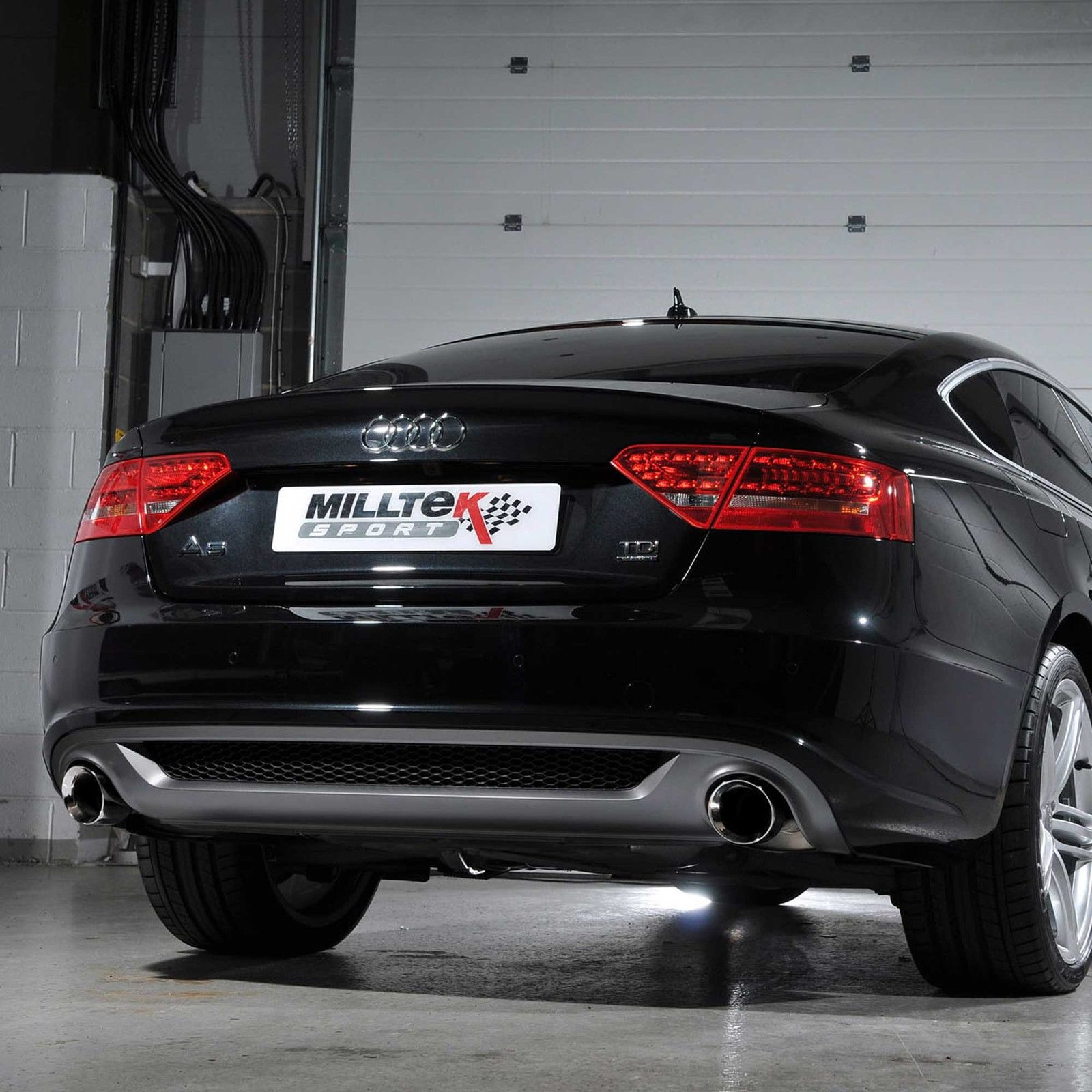 Milltek Dual Exit Exhaust With Valance Audi A4 B8 20tdi S Line