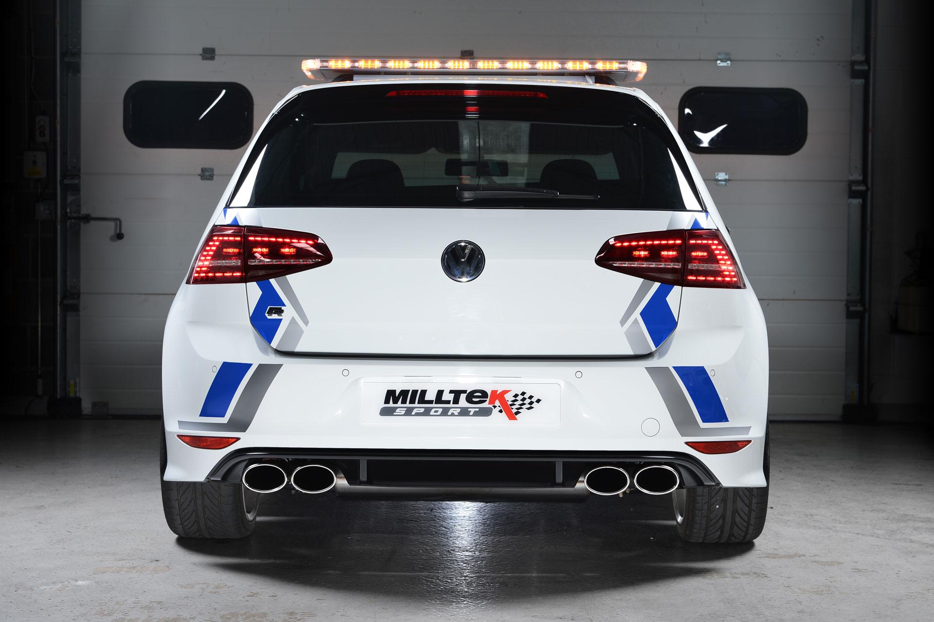 milltek cat back exhaust volkswagen golf mk7 r non