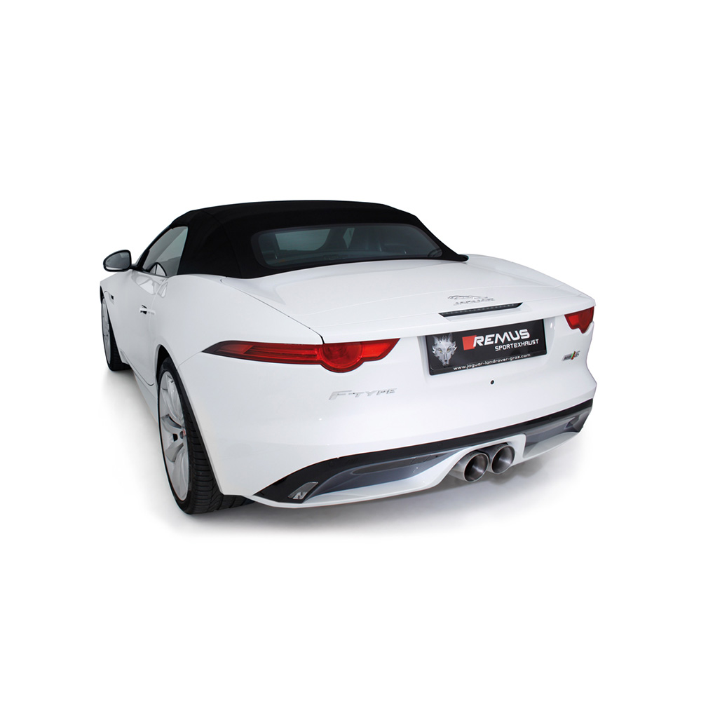 remus cat back exhaust jaguar f type 3 0 supercharged. Black Bedroom Furniture Sets. Home Design Ideas