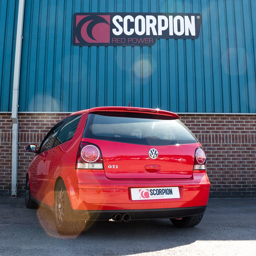 scorpion cat back exhaust volkswagen polo gti 9n3. Black Bedroom Furniture Sets. Home Design Ideas
