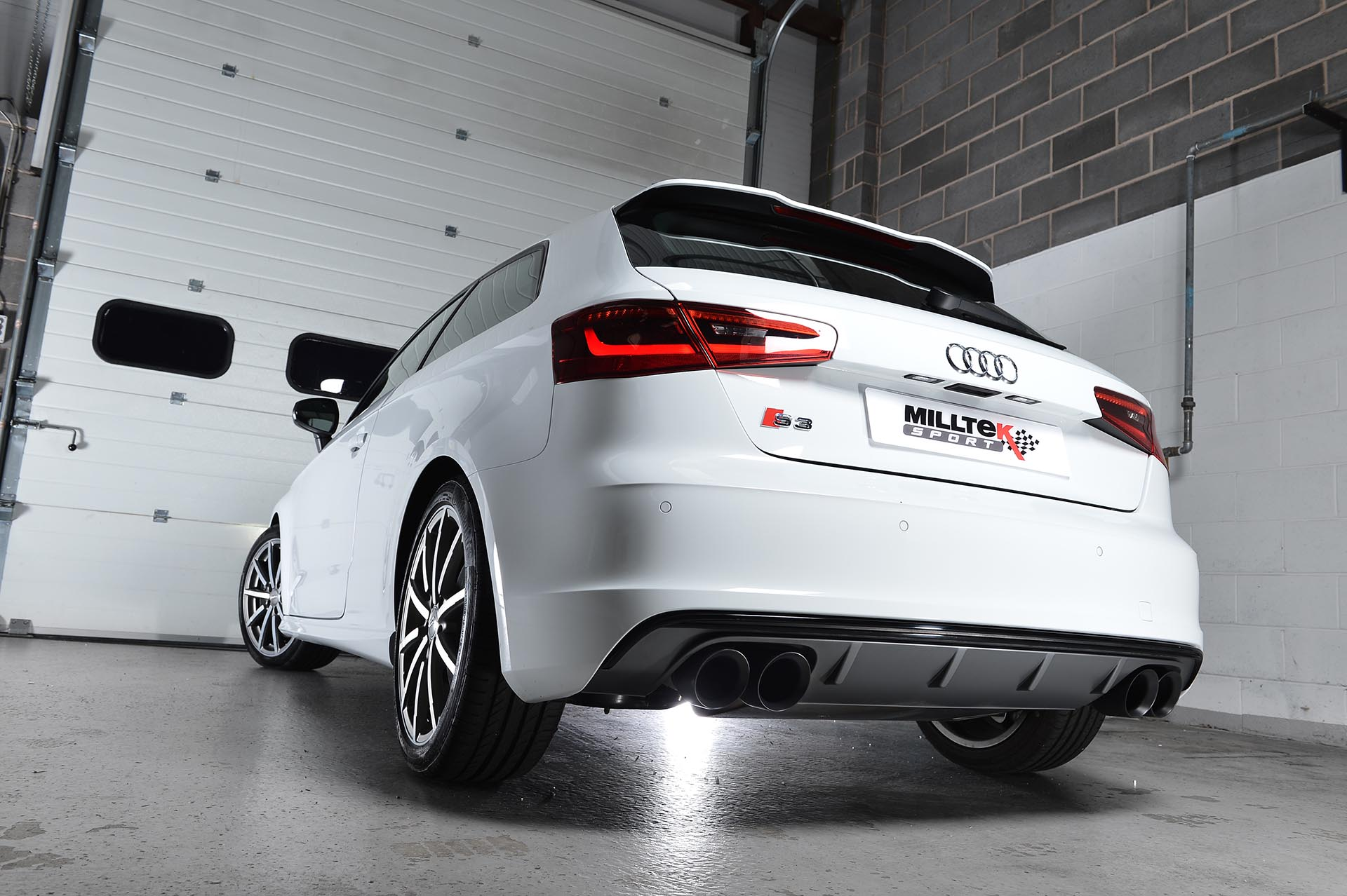 milltek cat back exhaust system valved audi s3 8v sportback clp tuning. Black Bedroom Furniture Sets. Home Design Ideas